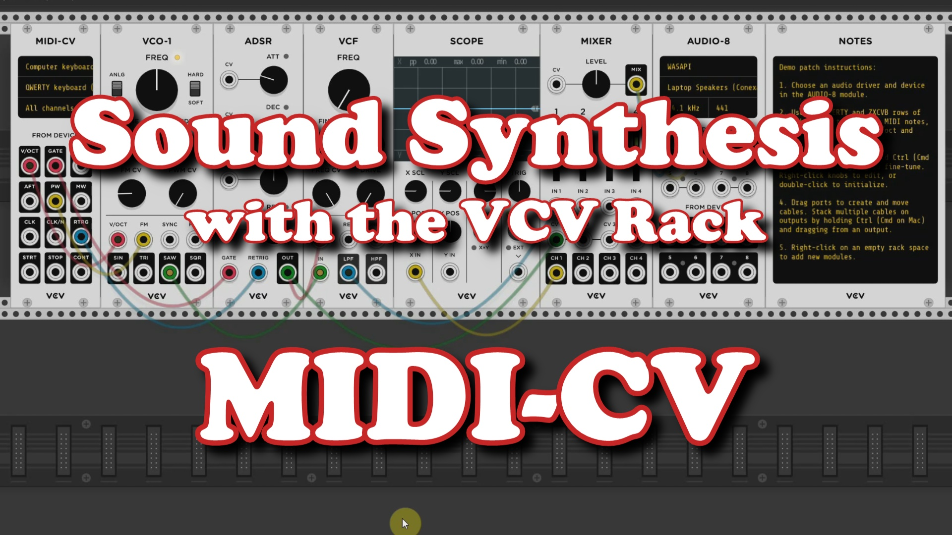 VCV 001 MIDI CV screenhsot